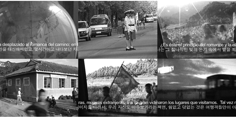 On the Road, March 27 - April 30, 2009, Single Channel Video, TRT: 19:03 minutes, English with Korean and Spanish translation, 10B, 10th Habana Bienal, Havana, Cuba. See video: http://www.youtube.com/watch?v=BMMB0tHwGeM.