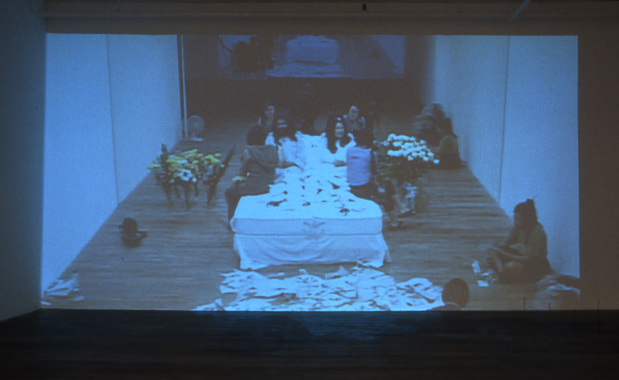 Will ---- for Peace, 2003, projection